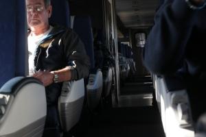 Strangers on a train.